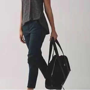Lululemon city trek trouser teal casual pants 8